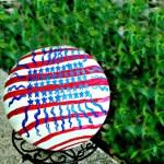 Make Your Own Patriotic Garden Ball