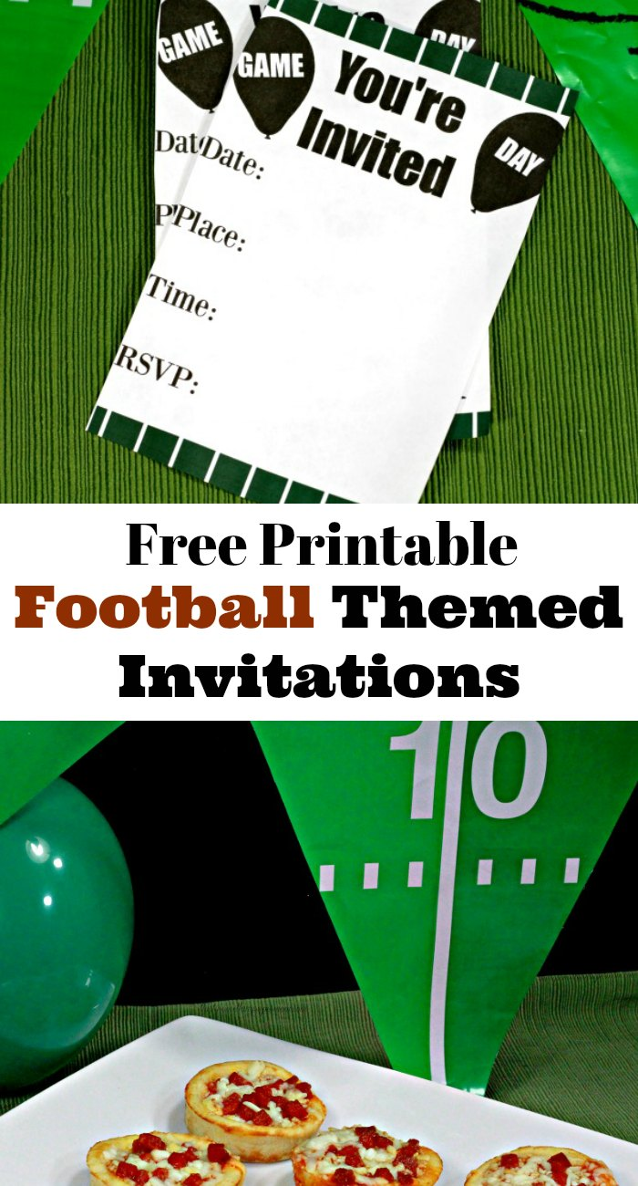 Game Day Party & Printable Football Themed Invitations ...