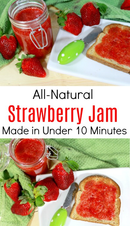 All-Natural Strawberry Jam in Under ten minutes!