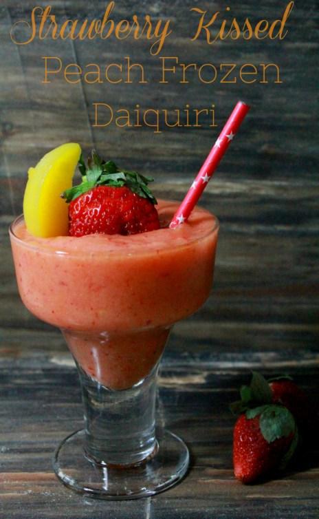 Strawberry Kissed Peach Frozen Daiquiri