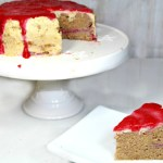 Healthy Strawberry Banana SCD Cake with Peanut Butter Frosting