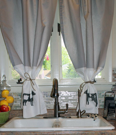Diy No Sew Farmhouse Style Curtains Thirtysomethingsupermom