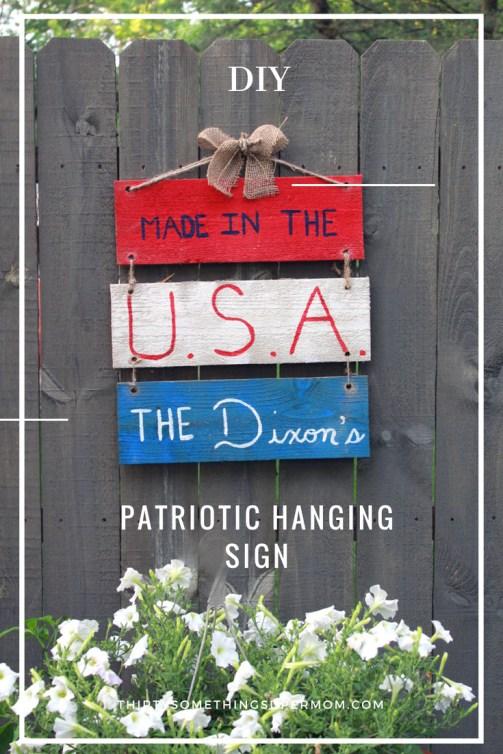 DIY Patriotic Hanging Sign