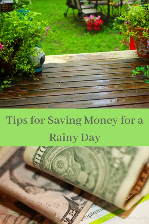 Saving Money for a Rainy Day