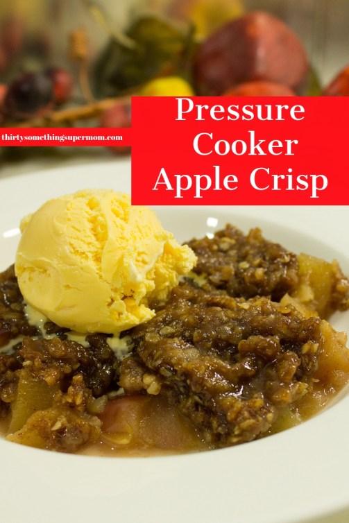 Pressure Cooker Apple Crisp