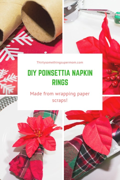 DIY Poinsettia Napkin Rings