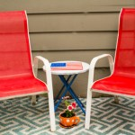 Trash to Treasure Patriotic Patio Set Makeover