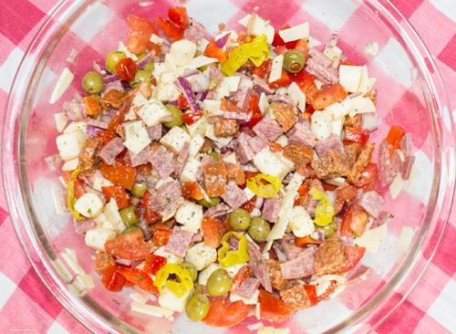 low carb antipasto salad
