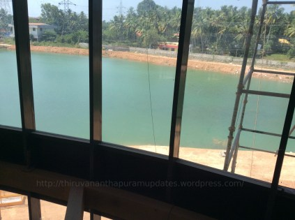 5 acre artificial lake inside the campus