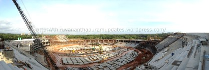 Panorama from topmost part of stadia