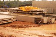 The pre-fab concrete blocks for upper-tier