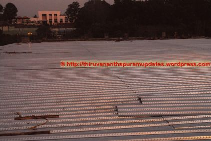 Club House's cutting-edge Roof-top tennis courts being prepared(13-Dec-2014)