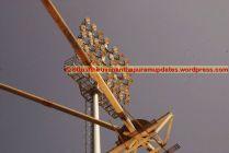 Closeup of a light tower