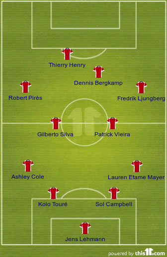 "Arsenal ""The Invincibles"" XI"