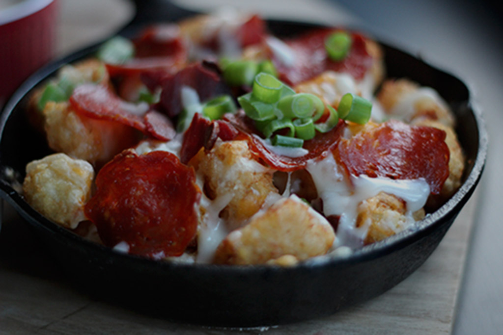 Baked Loaded Tater Tots