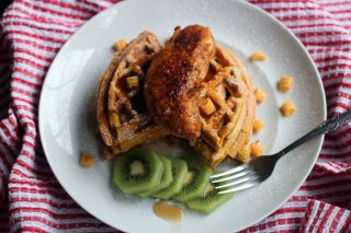 PumpkiN' Crunch Chicken and Waffles