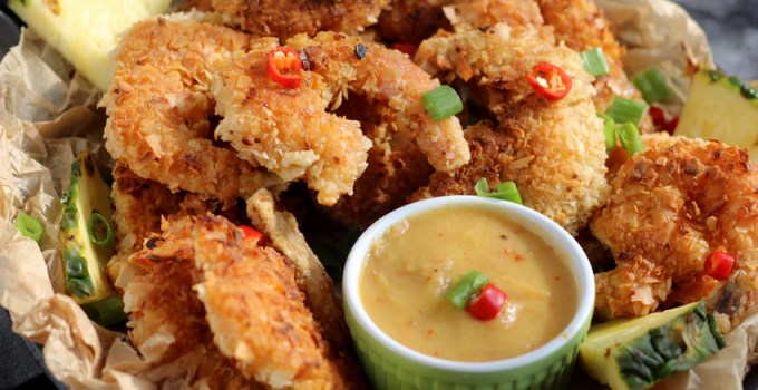 Whole30/Paleo Coconut Shrimp with Pineapple Dipping Sauce