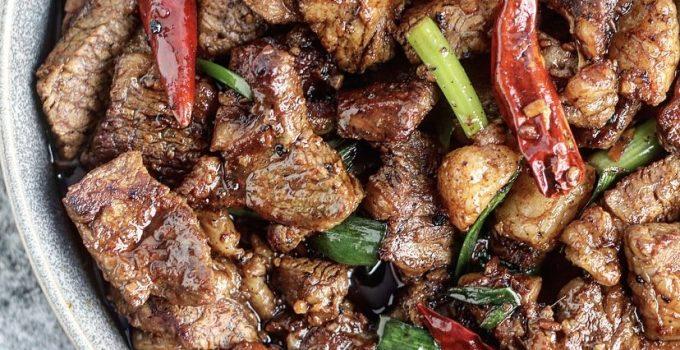 Dry-Aged Beef Mongolian Steak Bites Whole30/Paleo