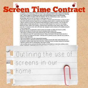 screen time contract