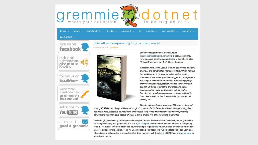 Gremmie book review