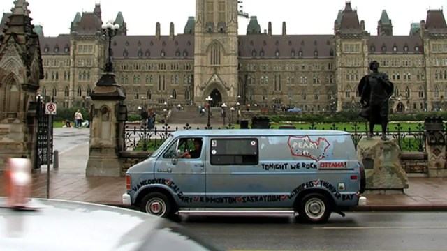 Touring Van at Parliament