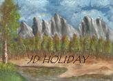 Mountain and River by JD Holiday