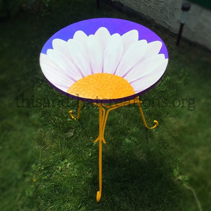 "Daisy Table $100 (Diameter 20"" Height 26"")"
