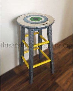 "Stool-Bot $70 Seat Diameter 12"", Height 24"""