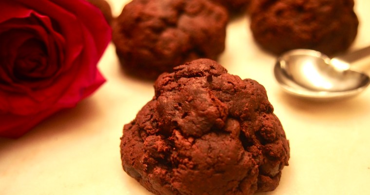 Sugar-Free Vegan Flourless Deep Dark Chocolate Cookies