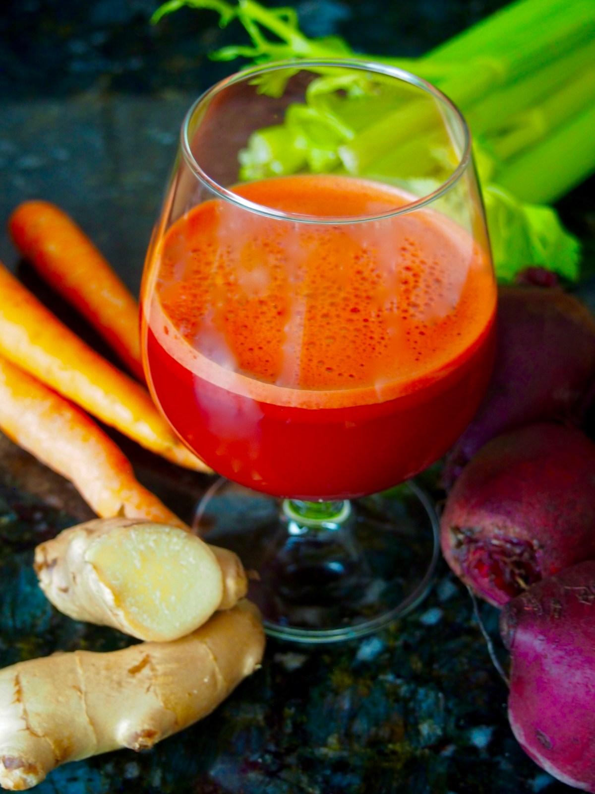 beet carrot ginger juice detox recipe