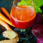 Beet carrot ginger juice liver detox