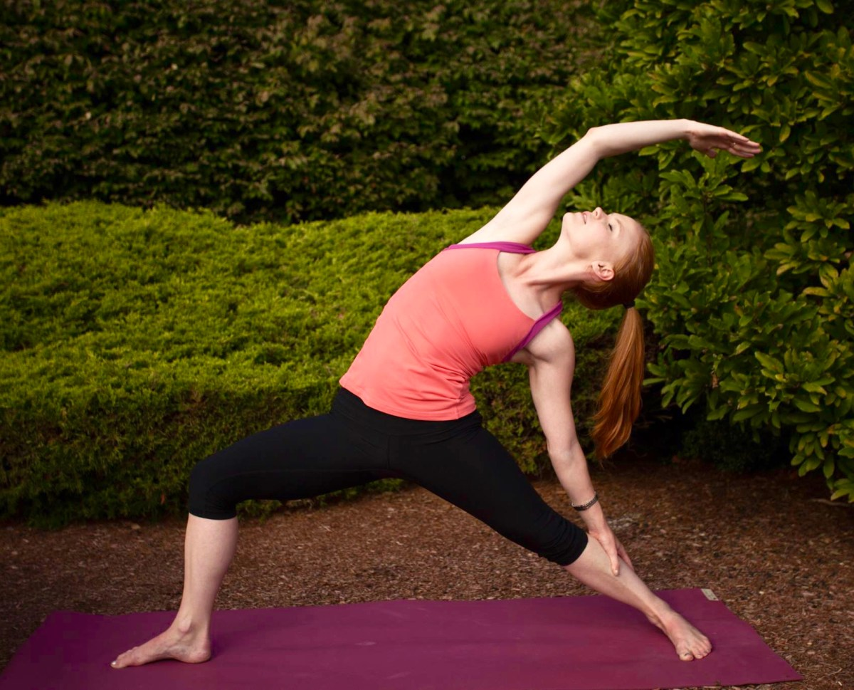 yoga flow reverse warrior