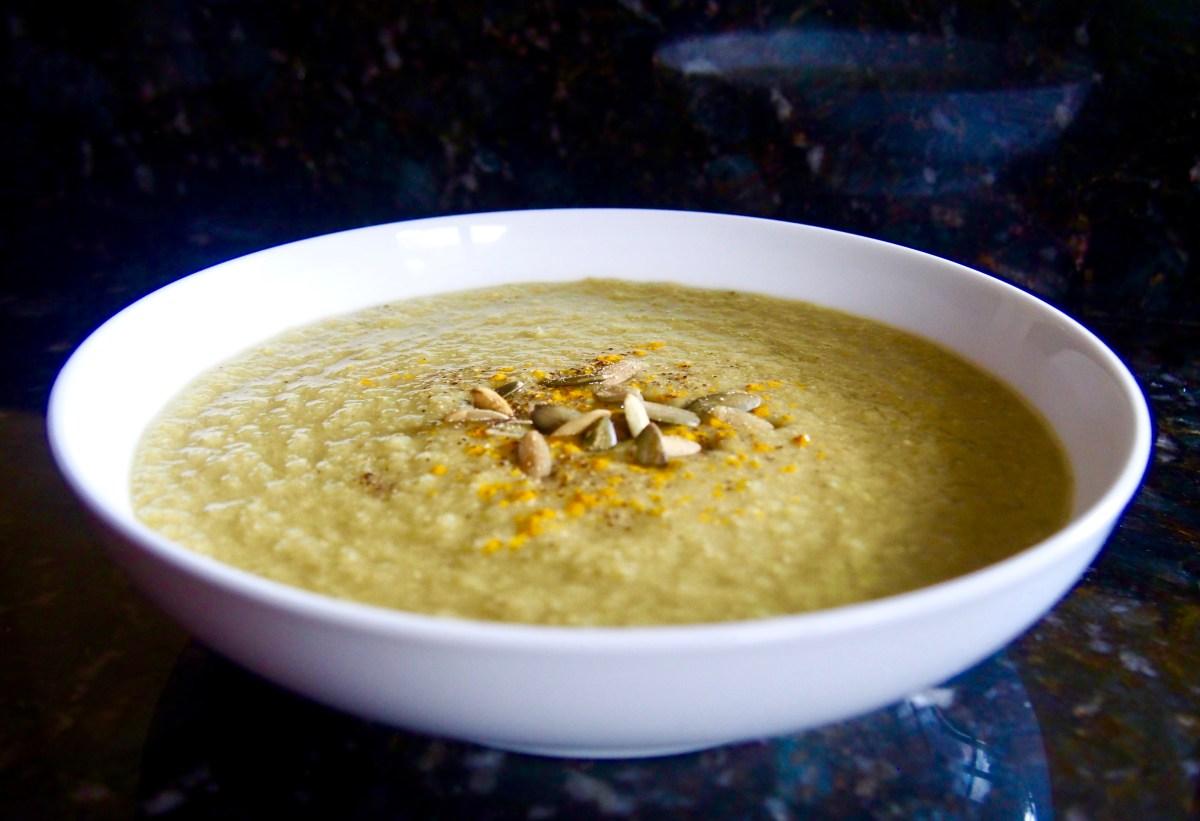 Creamy celery soup vegan paleo keto