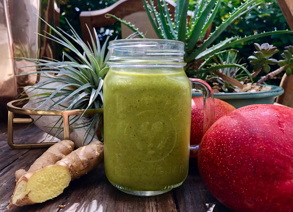 kale ginger mango smoothie recipe