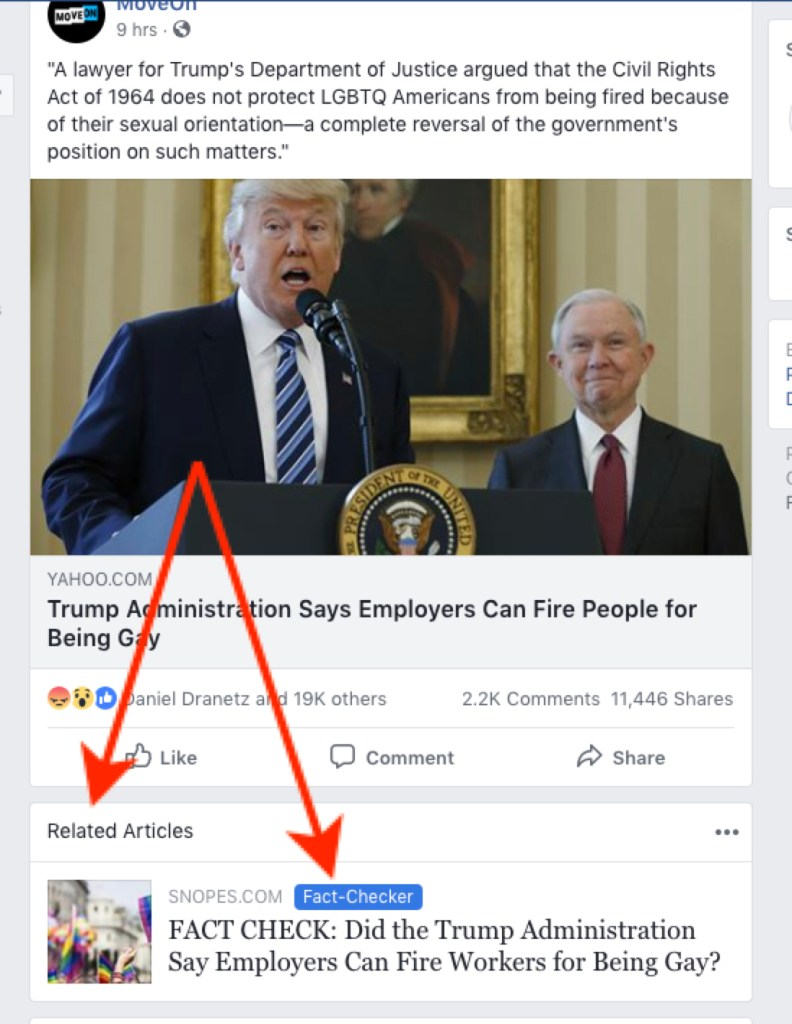 Facebook's Related Articles Fact Checker
