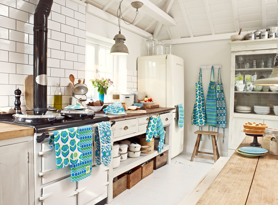 kitchen linens free standing island modern retro