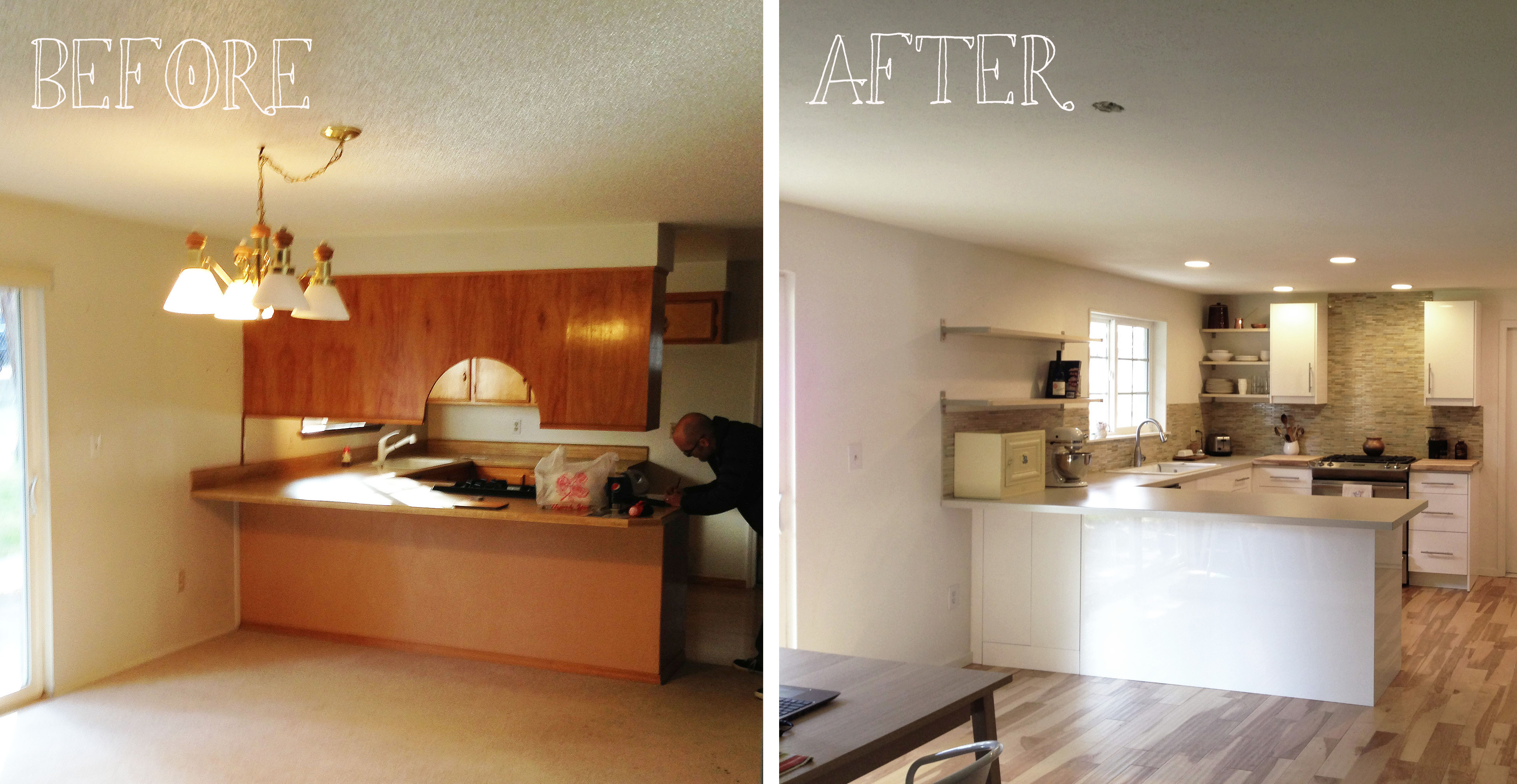 kitchen remodels before and after small remodel renovation imgkid the