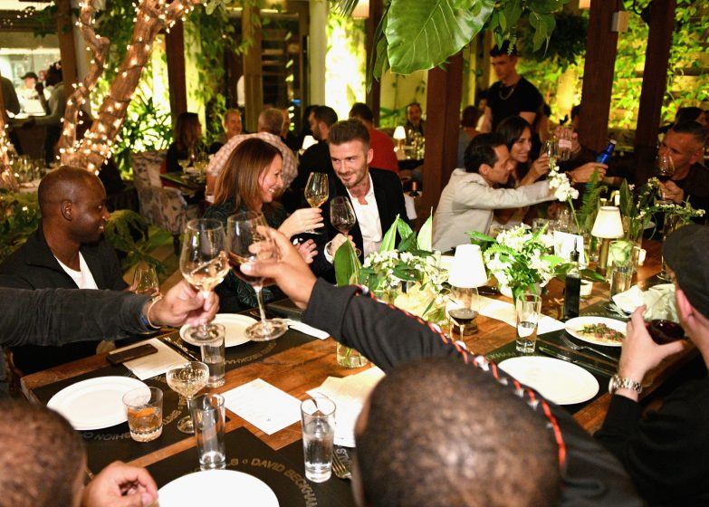 MIAMI, FL - DECEMBER 06: (L-R) Luceny Fofana, Caroline Rush, David Beckham, Marc Anthony and _ attend Adidas Originals, British Fashion Council and David Beckham host a dinner in celebration of their creative collaboration on December 6, 2018 in Miami, United States. (Photo by Getty Images/BFC/Getty Images for BFC) *** Local Caption *** Luceny Fofana;Caroline Rush;David Beckham;Marc Anthony