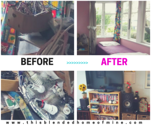 Before and After - How to clean a hoarders house in 10 easy steps