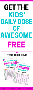 How To Talk to Your Child About Bullying - Kids' Daily Dose of Awesome - This Blended Home of Mine - Bullying, Bullying Lessons, Stop Bullying
