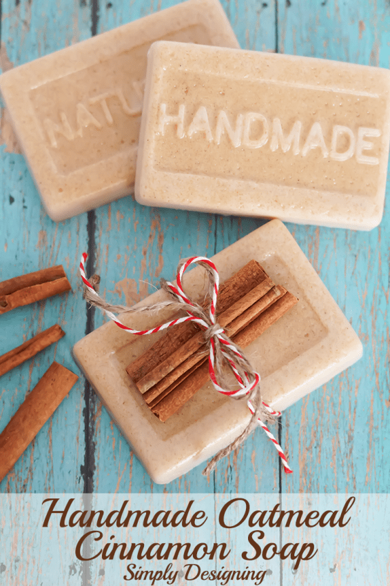 Christmas Gifts - Cheap Christmas Gifts - Handmade Oatmeal Cinnamon Soap