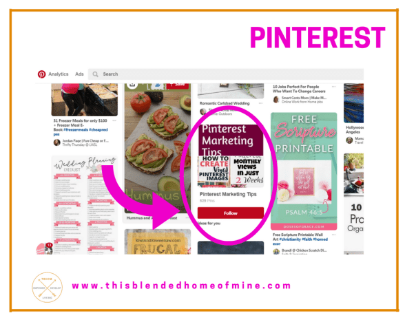 Grow your Pinterest Followers - Pinterest feed - This Blended Home of Mine