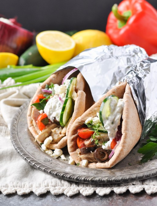 Easy Slow Cooker Recipes - Greek Chicken Gyros