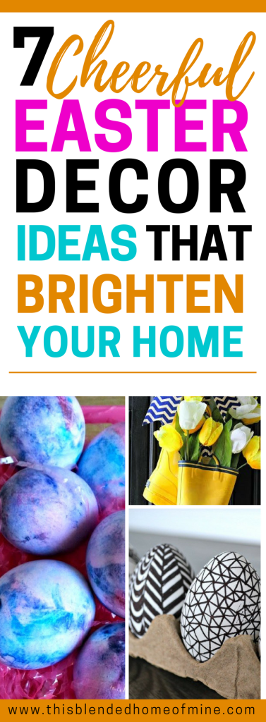 7 Easy DIY Easter Decorations that brighten your home - This Blended Home of Mine