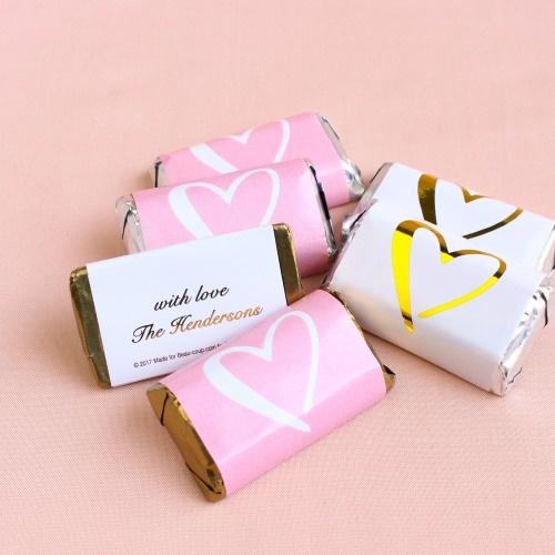 Wedding Favors That Won't Blow Up Your Budget - Personalized Wedding Hershey's Miniatures