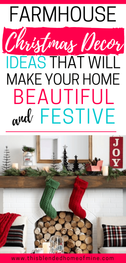 Christmas Farmhouse Decorations that Will Make Your Home Warm and Festive - This Blended Home of Mine - Simple farmhouse decorating ideas available at Target