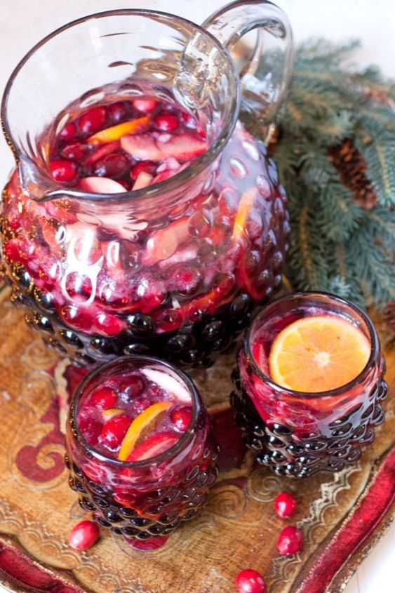 Christmas Sangria - This Blended Home of Mine - Christmas Dinner Menu