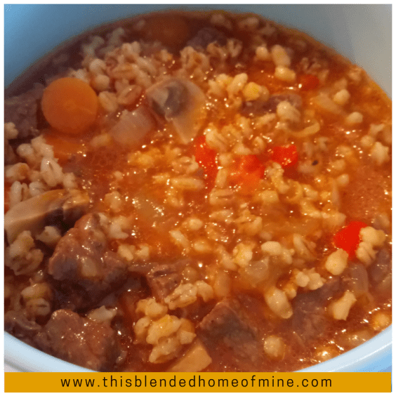 Instant Pot Beef Barley Soup Recipe - This Blended Home of Mine - , Pressure Cooker, Easy Beef Barley Soup Recipe