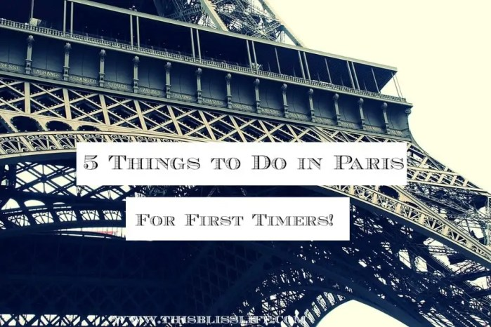 5 things to do in paris