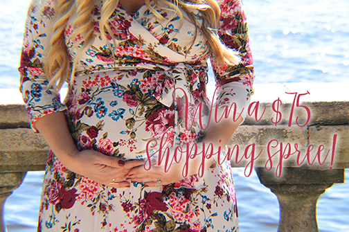 Ivory Floral Maxi Dress   PinkBlush Giveaway